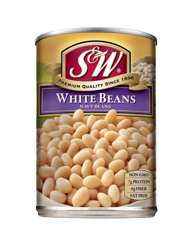 S&W S&W White Beans Small, 15 oz