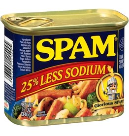 Spam Spam Luncheon Meat 25% Less Sodium, 12 oz, 12 ct