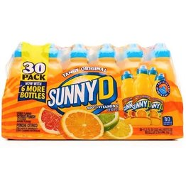 Sunny Delight SunnyD Tangy Original With Sports Cap, 11.3 oz, 30 ct
