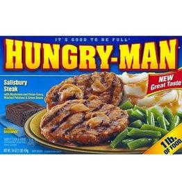 Swanson Swanson Hungry-Man Salisbury Steak, 16 oz, 8 ct