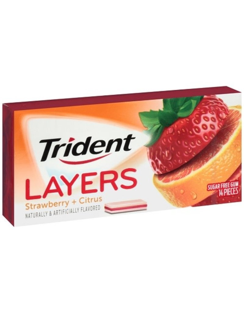 Trident Trident Gum Strawberry Citrus Layers, 14 ct (Pack of 12)