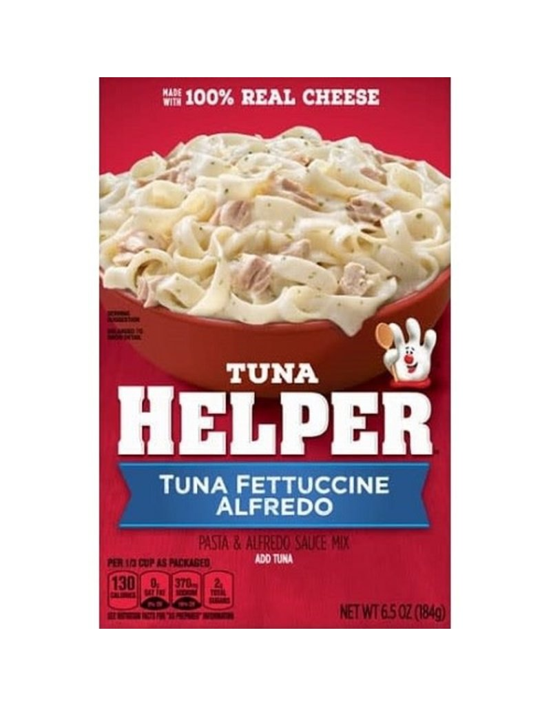 Hamburger Helper Tuna Helper Fettuccine Alfredo, 6.5 oz, 12 ct