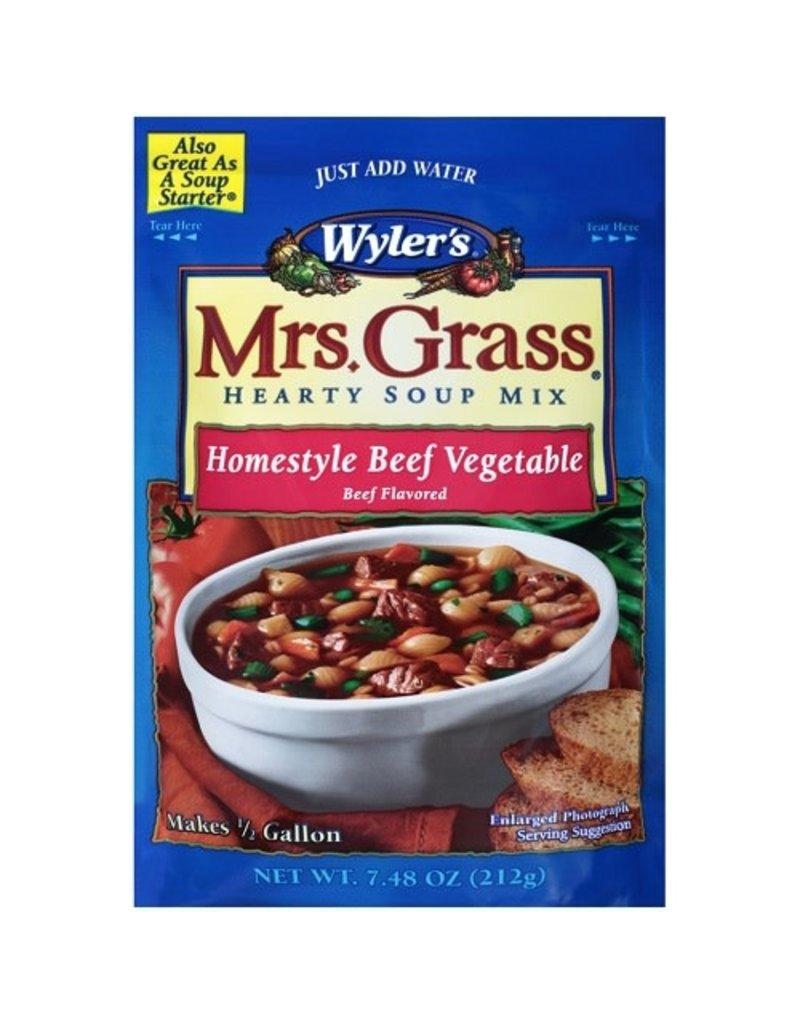 Wylers Wylers Beef Vegetable Soup Starter, 7.48 oz, 8 ct