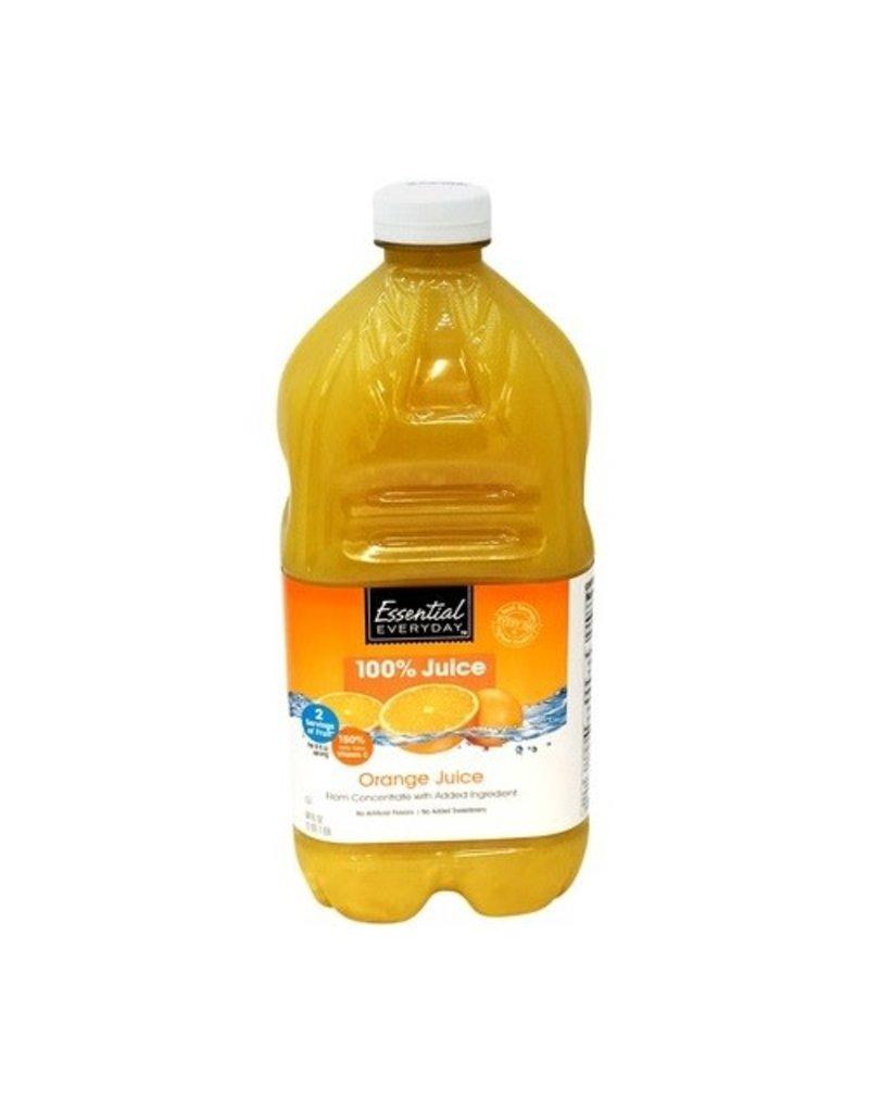 Essential Everyday EED Orange Juice 100%, 64 oz, 8 ct