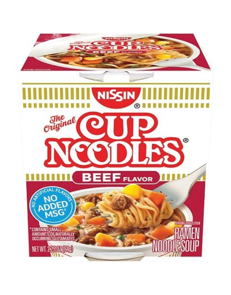 Nissin Nissin Cup Noodles Beef, 2.25 oz, 6 ct