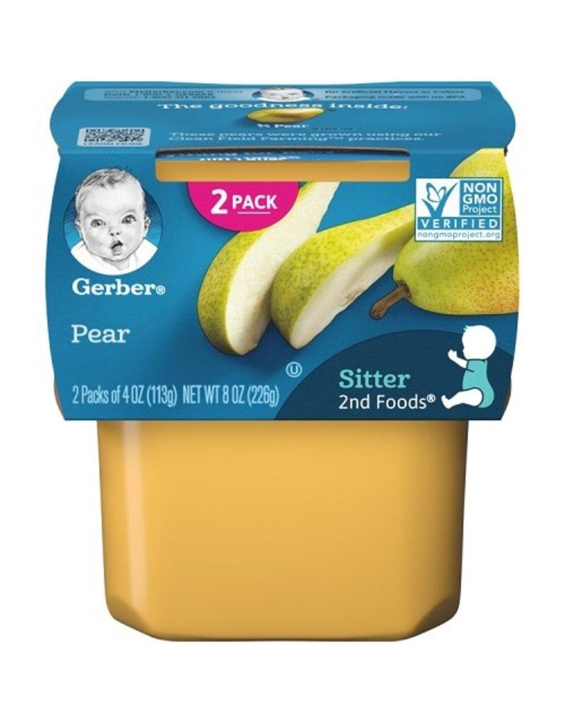 Gerber Gerber 2nd Foods Pears, 8 oz, 8 ct