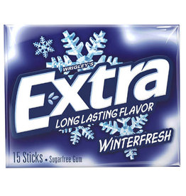 Extra Extra Gum Winterfresh, 15 ct (Pack of 10)