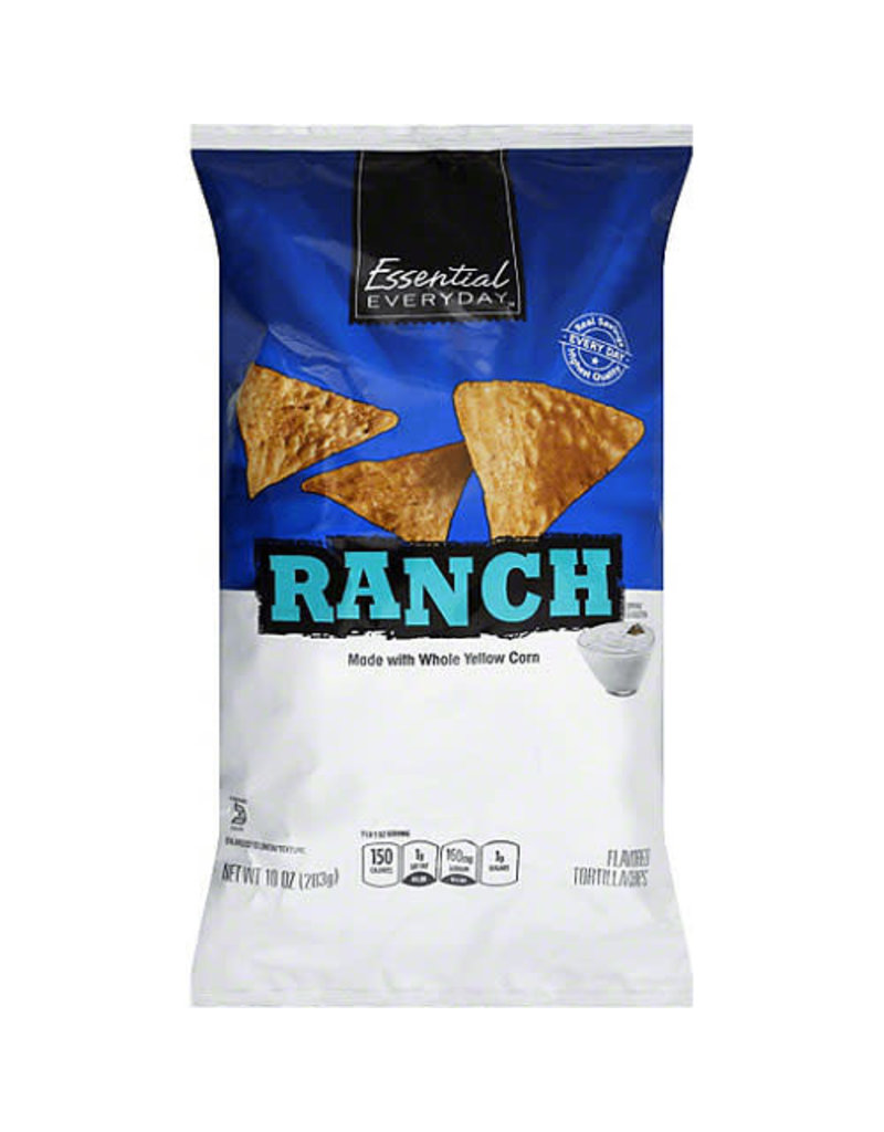 Essential Everyday EED Ranch Tortilla Chips, 10 oz, 12 ct