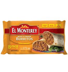 El Monterey El Monterey Bean & Cheese Burrito, 32 oz, 8 ct
