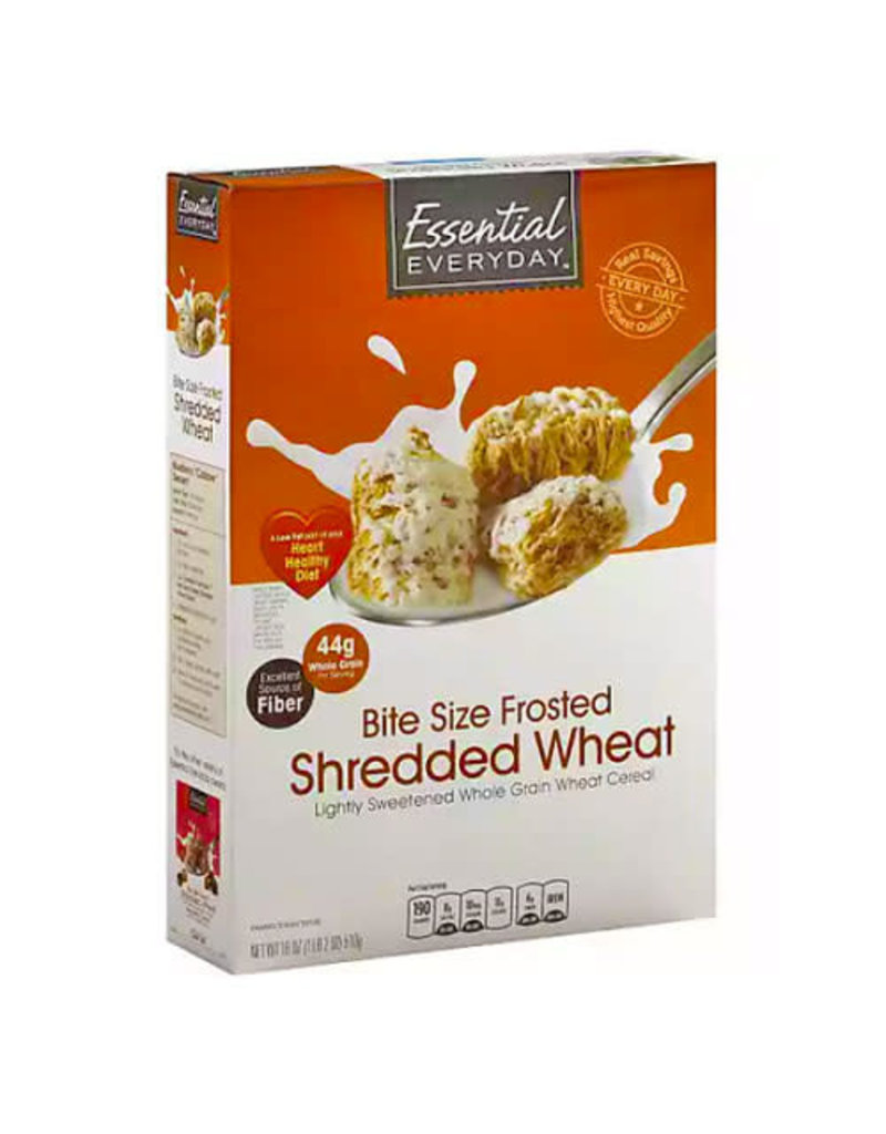 Essential Everyday EED Bite Size Frosted Shredded Wheat, 18 oz, 16 ct