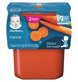 Gerber Gerber 2nd Foods Carrots, 8 oz, 8 ct