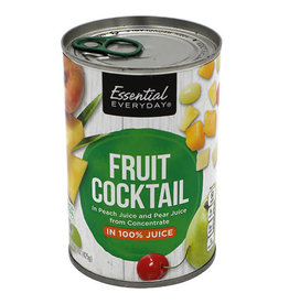Essential Everyday EED Fruit Cocktail In 100% Juice, 15 oz, 24 ct