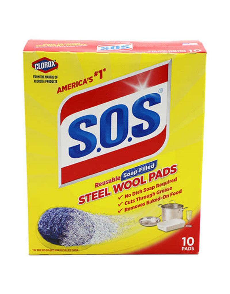 S.O.S SOS Regular Soap Pads, 10 ct