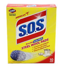 S.O.S SOS Regular Soap Pads, 10 ct (Pack of 6)