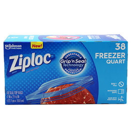 Ziploc Ziploc Quart Freezer Bags, 38 ct