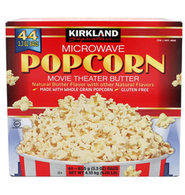 Kirkland Signature Kirkland Signature Movie Theatre Butter Popcorn, 3.3 oz, 44 ct