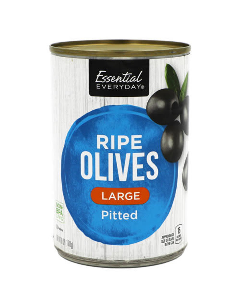 Essential Everyday EED Pitted Olives Large, 6 oz, 24 ct