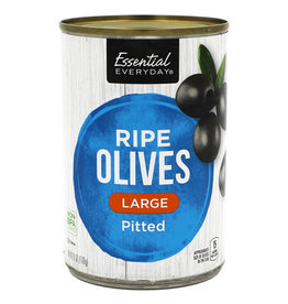 Essential Everyday EED Pitted Olives Large, 6 oz