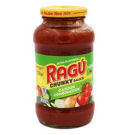 Ragu Ragu Garden Combination Pasta Chunky Sauce, 24 oz, 12 ct
