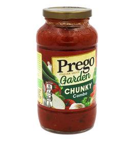 Prego Prego Extra Chunky Garden Pasta Sauce, 23.75 oz, 12 ct