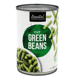 Essential Everyday EED Canned Cut Green Beans, 14.5 oz, 24 ct