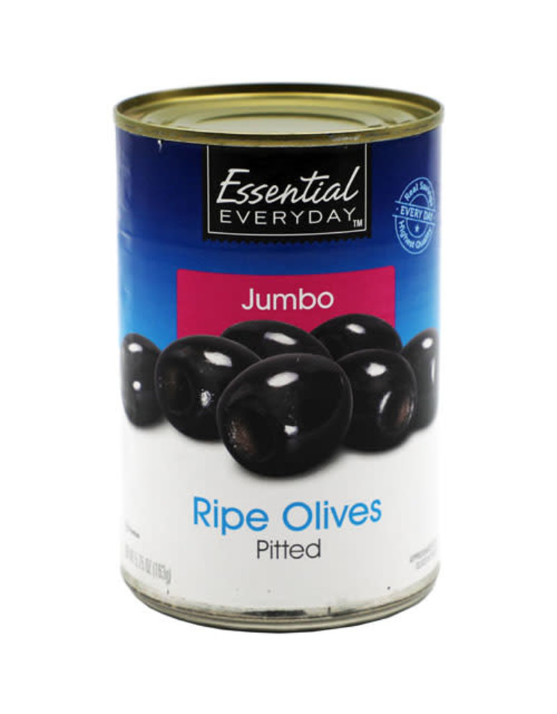 Essential Everyday EED Jumbo Pitted Olives, 5.75 oz, 24 ct