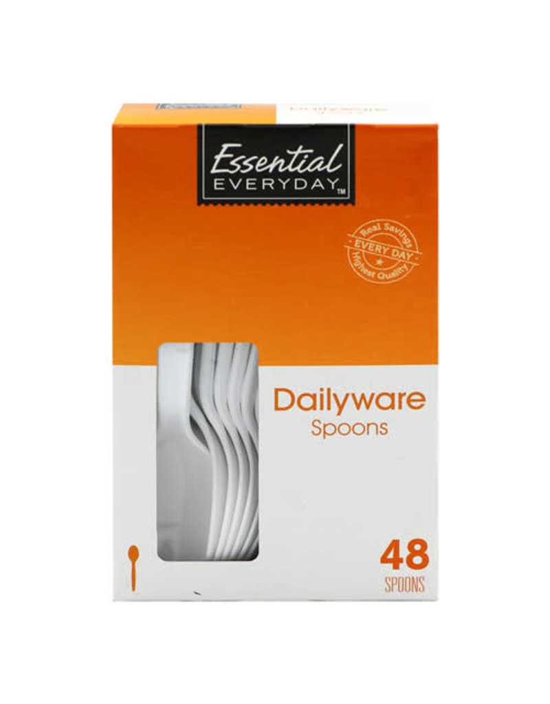 Essential Everyday EED Heavy Duty Spoons, 48 ct (Pack of 12)
