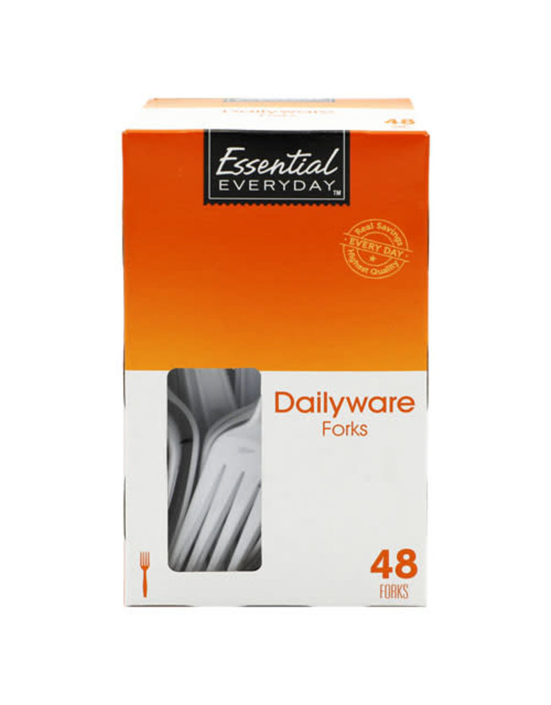 Essential Everyday EED Heavy Duty Forks, 48 ct (Pack of 12)