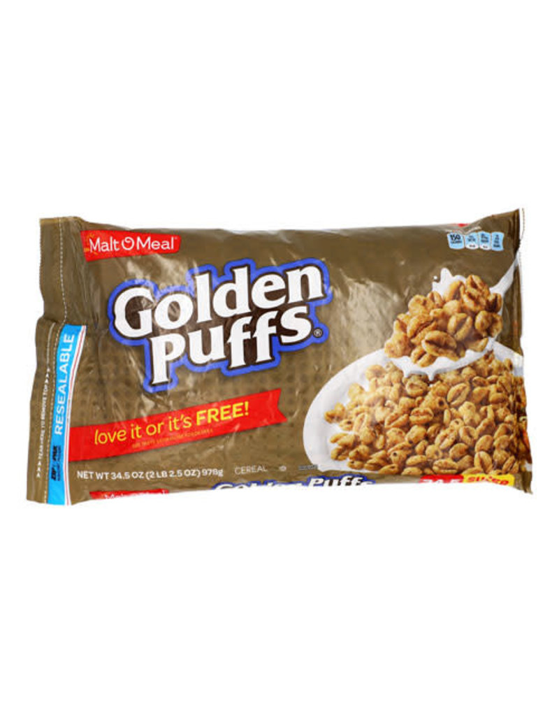 Malt-O-Meal Malt-O-Meal Golden Puffs Bag, 34.5 oz, 6 ct