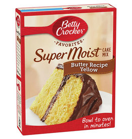 Betty Crocker Betty Crocker Yellow Cake Mix Supermoist Butter Recipe, 15.25 oz, 12 ct