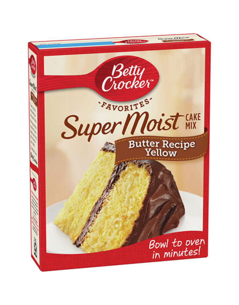 Betty Crocker Betty Crocker Yellow Cake Mix Supermoist Butter Recipe, 15.25 oz