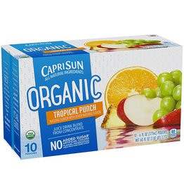 Capri Sun Capri Sun Tropical Punch Organic, 10 ct (Pack of 4)