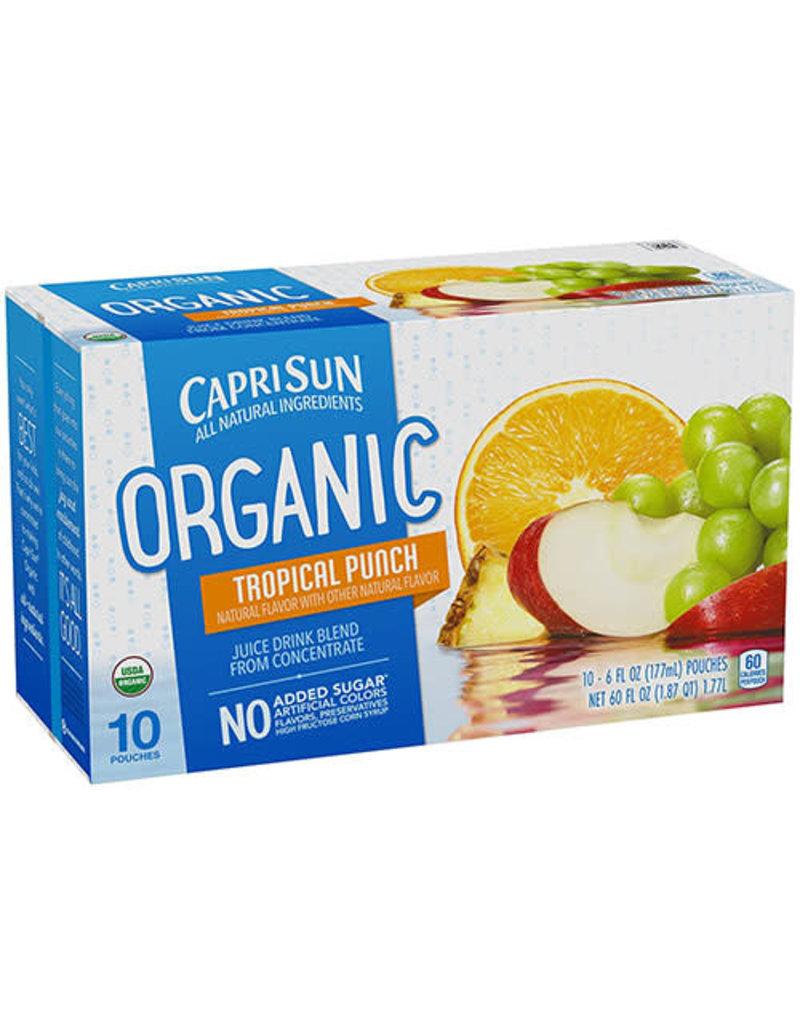 Capri Sun Capri Sun Tropical Punch Organic, 10 ct (Pack of 4)