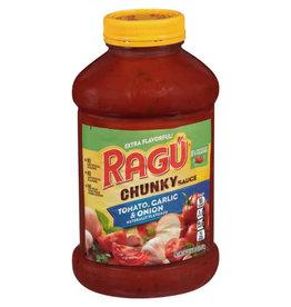 Ragu Ragu Chunky Pasta Sauce With Garlic & Onion, 24 oz, 12 ct