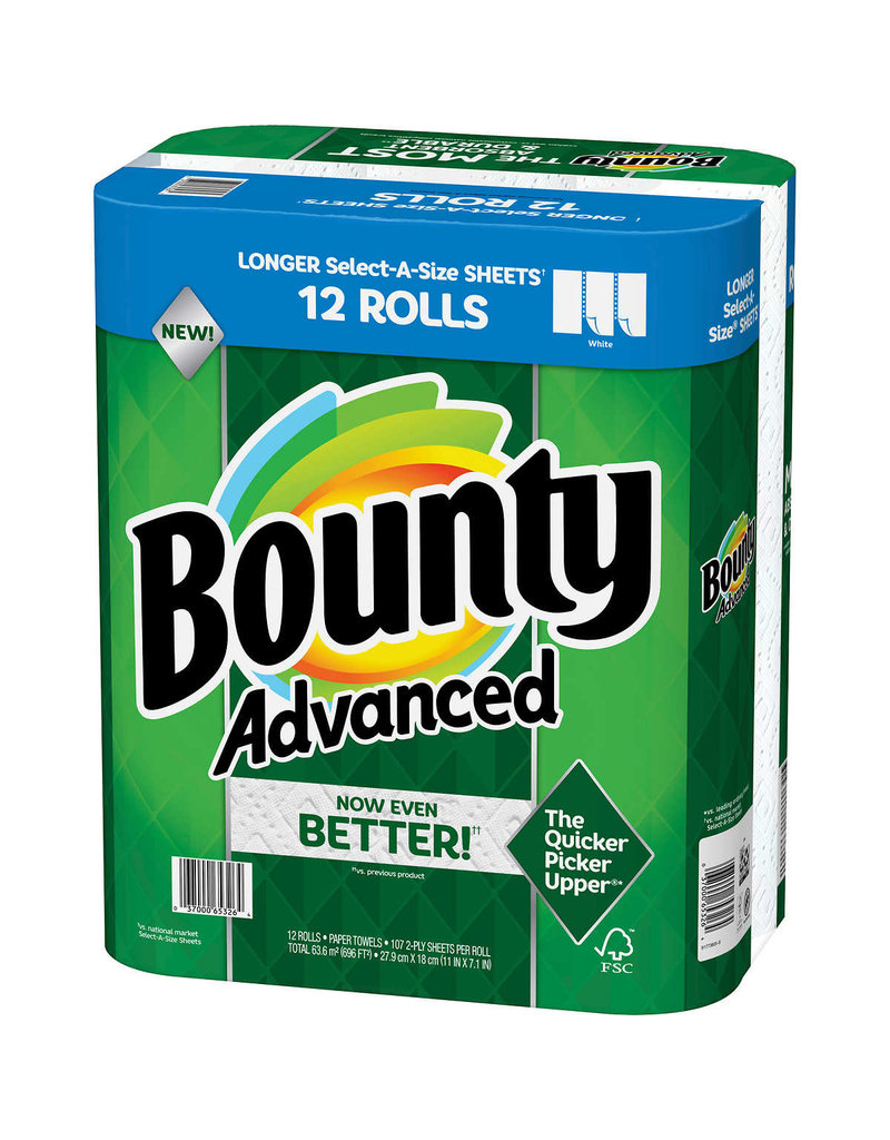 Bounty Bounty Paper Towels Select-A-Size, 12 ct