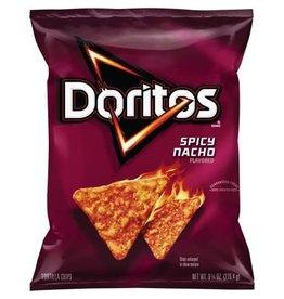 Doritos Doritos Nacho Spicy Chips, 9.25 oz, 7 ct