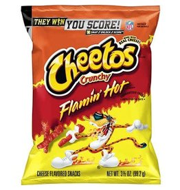 Cheetos Cheetos Crunchy Flamin' Hot, 3.25 oz, 28 ct
