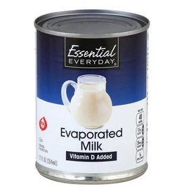 Essential Everyday EED Evaporated Milk, 12 oz, 24 ct