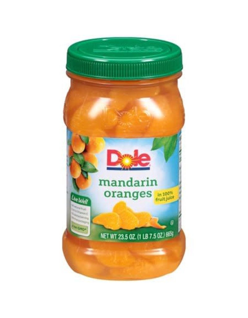 Dole Dole Mandarin Oranges In Juice, 23.5 oz, 8 ct