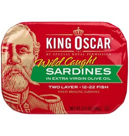 King Oscar King Oscar Brisling Sardines, 3.75 oz, 12 ct