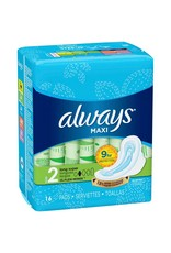 Always Always Maxi Super Flexi W/Wings, 16 ct (Pack of 12)