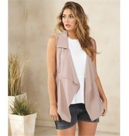 Mud Pie Raven Cinched Vest Blush