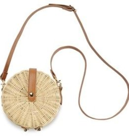 Mud Pie Rattan Circle Crossbody