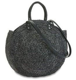 Mud Pie Large Straw Circle Tote