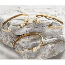 Initial Pave Bracelets