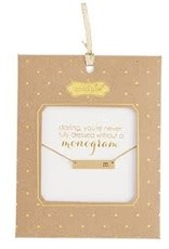Mud Pie Chelsea Initial Bar Necklace