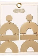 Mud Pie Geometric Drop Earrings