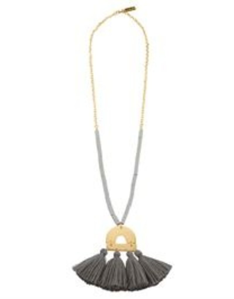 Mud Pie Metal Tassel Necklace
