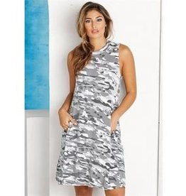 Mud Pie Alyssa Swing Dress Wht Camo
