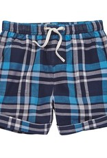 Mud Pie Blue Plaid Shorts